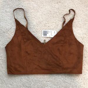 Brown crop top